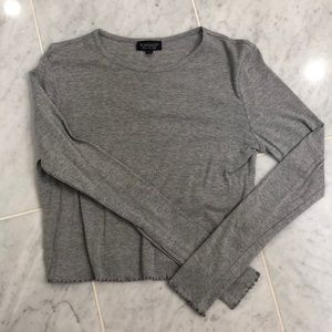 Top shop cropped long sleeve
